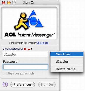 AIM pour Mac